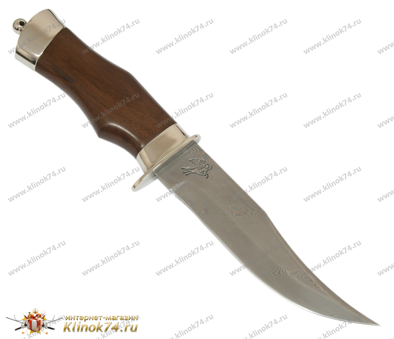 Нож Барсук (Дамаск, Орех, Металлический) фото 01