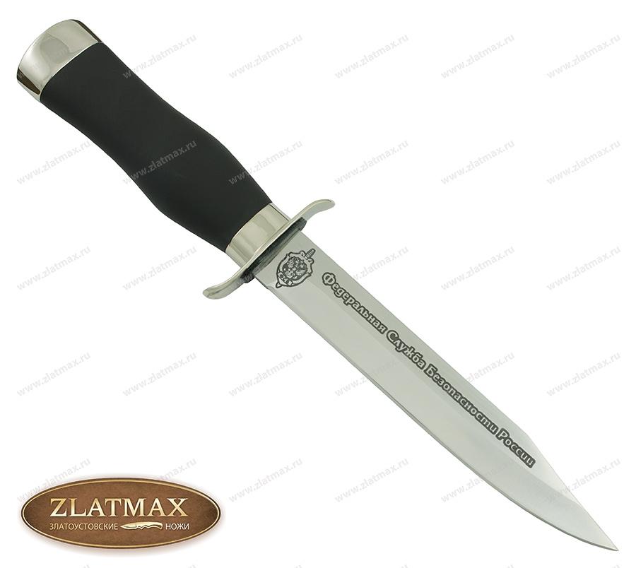 Нож Полигон-ФСБ ДН (100Х13М, Орех + полимерное покрытие, Металлический) фото 01