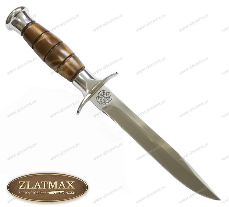Нож Окопный (100Х13М, Берёзовый кап, Металлический) фото 01