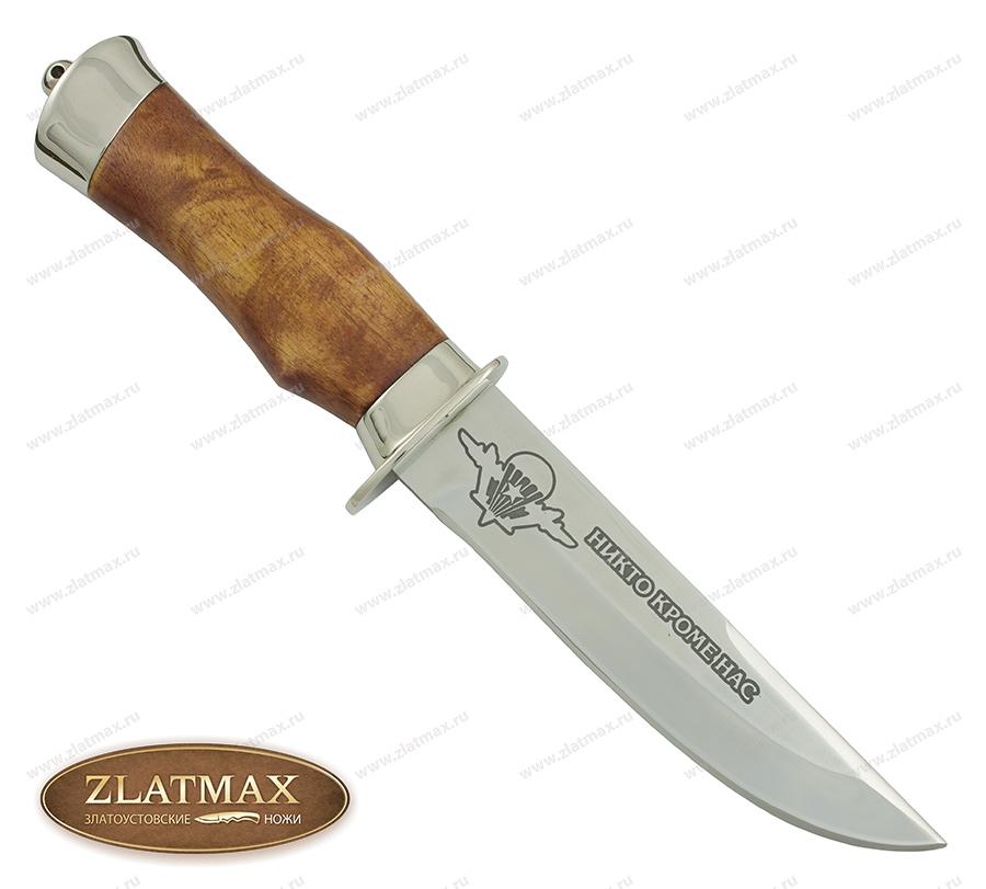 Нож Спец ВДВ (100Х13М, Берёзовый кап, Металлический) фото 01