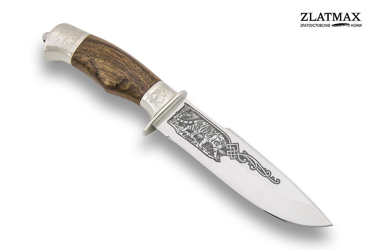 Нож Горностай-1 (100Х13М, Орех, Металлический) фото-01