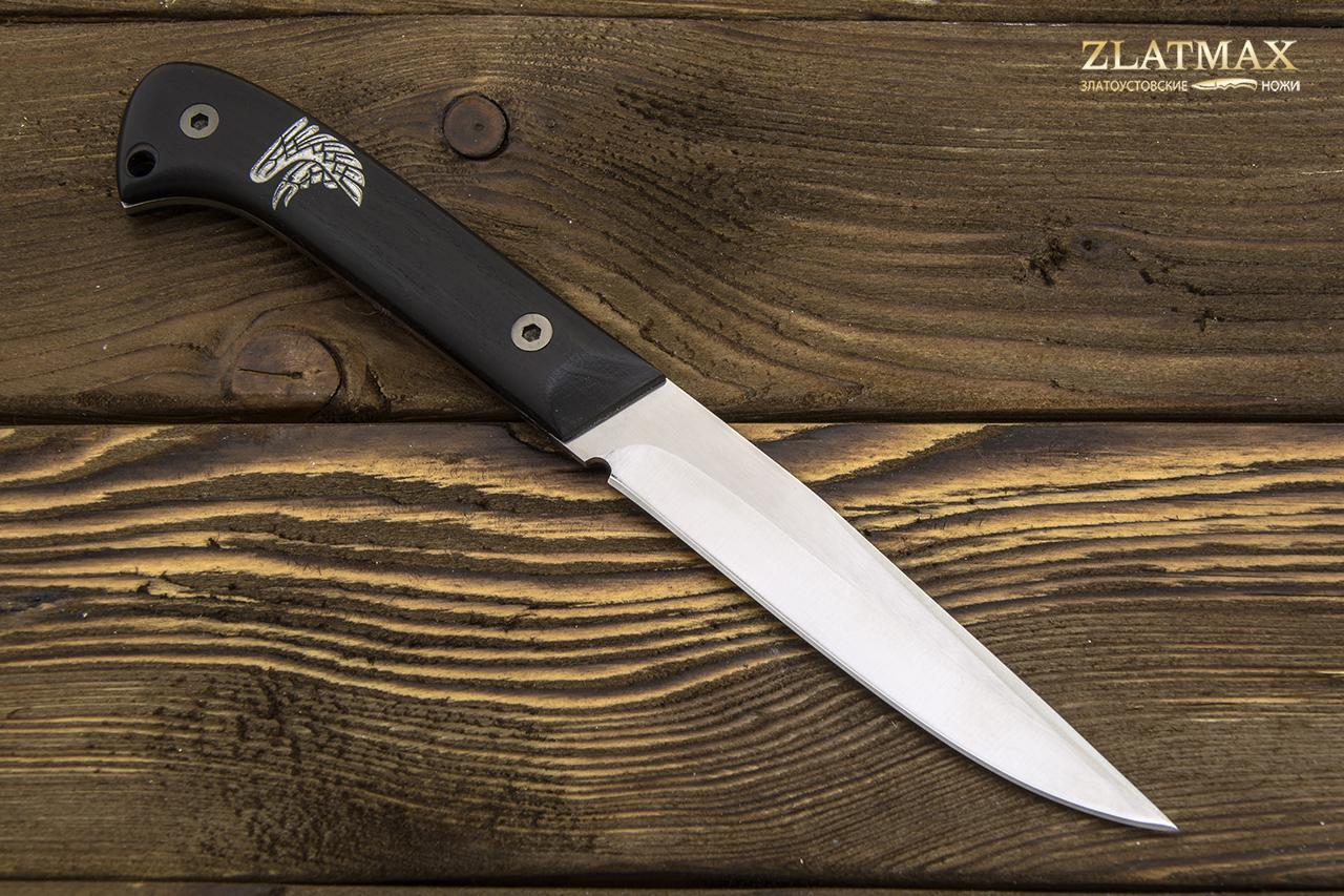 Нож Ворон (100Х13М, Накладки граб) фото 01