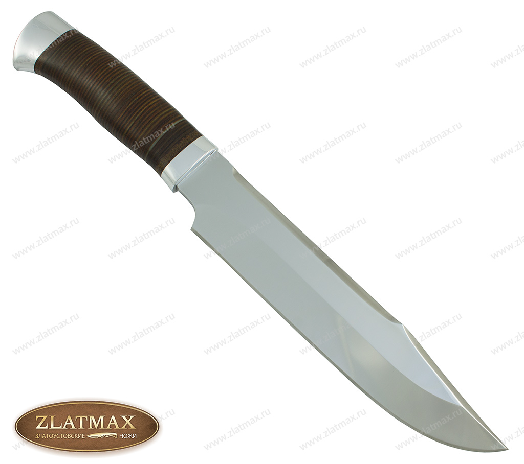 Нож Пилигрим-1 (40Х10С2М, Наборная кожа, Алюминий) фото 01
