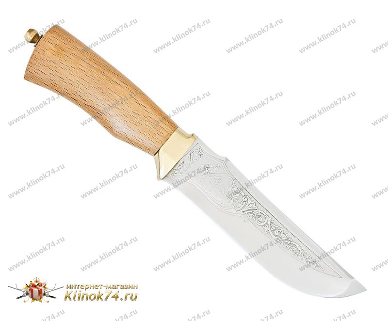 Нож Егерь (40Х10С2М, Орех, Латунь) фото-01