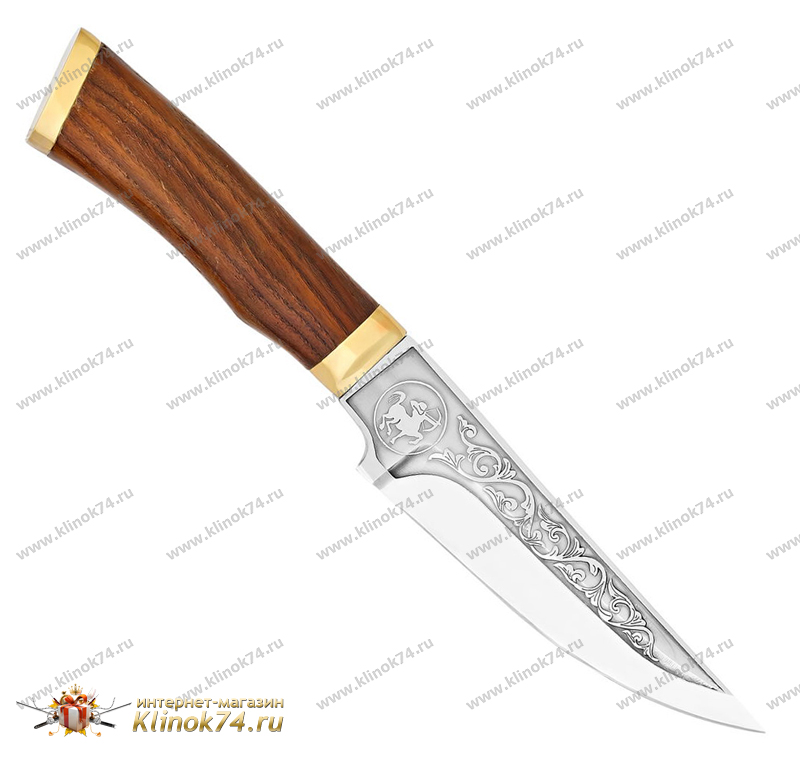 Нож Стрелец (40Х10С2М, Орех, Латунь) фото 01