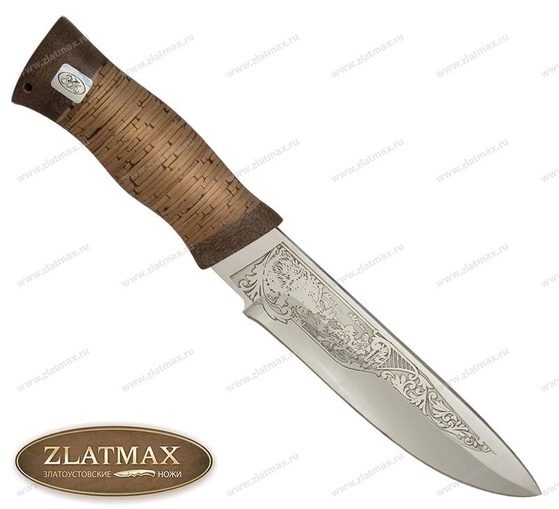 Нож Бобр (ЭИ-107, Наборная береста, Текстолит) фото 01