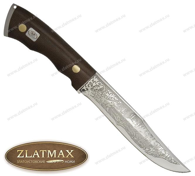 Нож Златоуст (ЭИ-107, Накладки Текстолит) фото 01