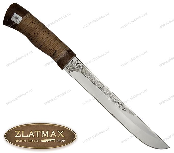 Нож Сом (ЭИ-107, Наборная береста, Текстолит) фото 01