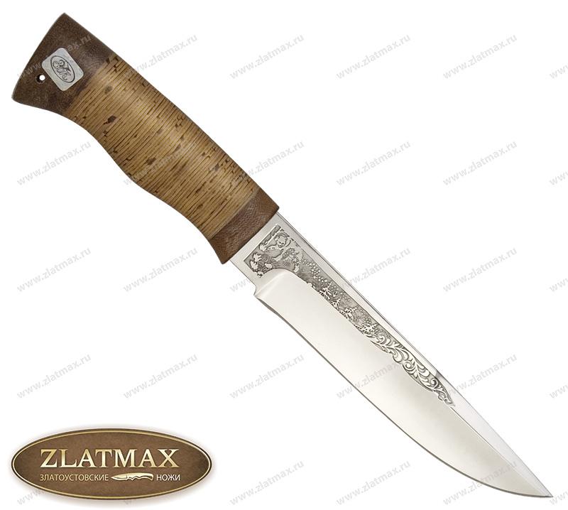 Нож Боровик большой (ЭИ-107, Наборная береста, Текстолит) фото 01