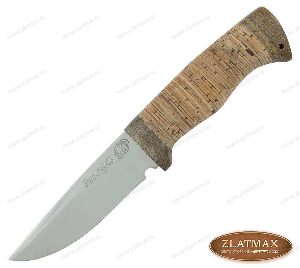 Нож Боровик малый (ЭИ-107, Наборная береста, Текстолит) фото 01