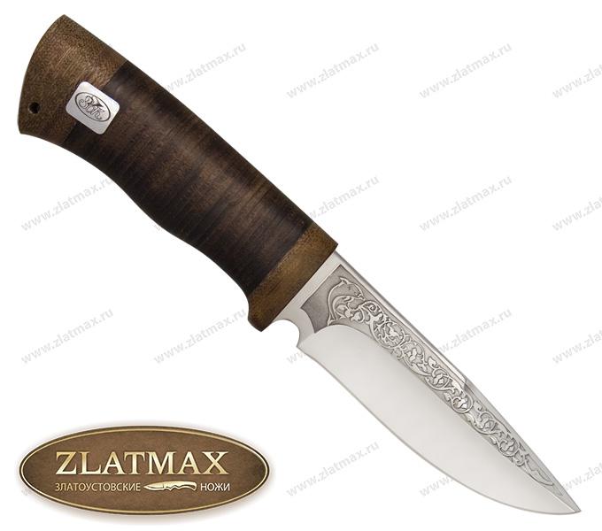 Нож Боровик малый (ЭИ-107, Наборная кожа, Текстолит) фото 01