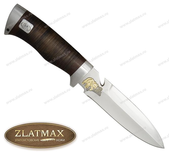 Нож Гарпун (ЭИ-107, Наборная кожа, Алюминий) фото 01