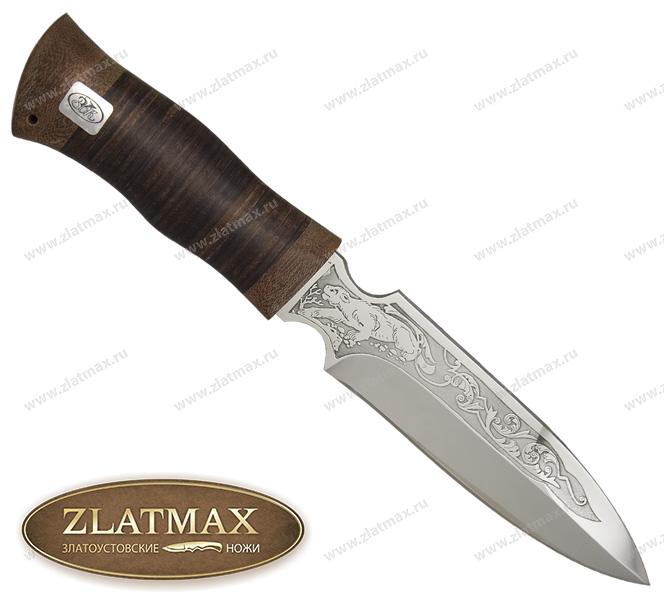 Нож Гладиатор (ЭИ-107, Наборная кожа, Текстолит) фото 01