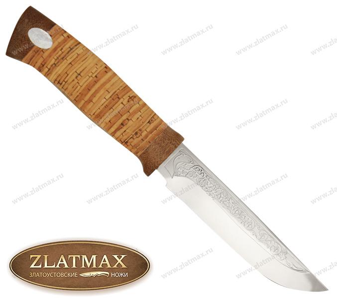 Нож Грибник (ЭИ-107, Наборная береста, Текстолит) фото 01