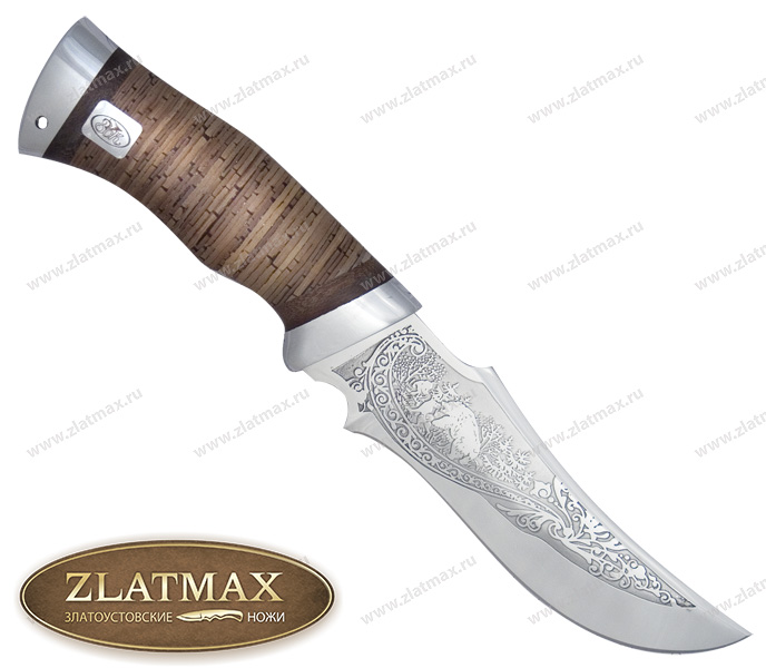 Нож Диана (ЭИ-107, Наборная береста, Алюминий) фото 01