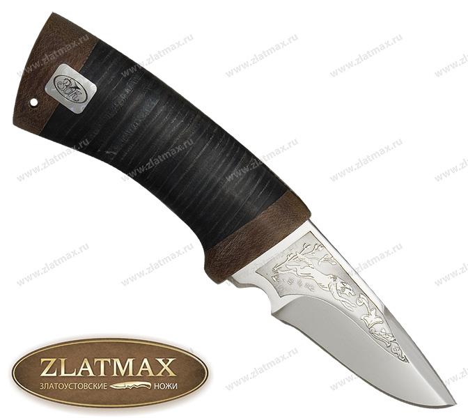Нож Карась (ЭИ-107, Наборная кожа, Текстолит) фото 01