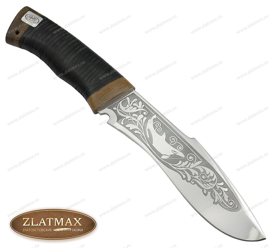 Нож Касатка (ЭИ-107, Наборная кожа, Текстолит) фото 01