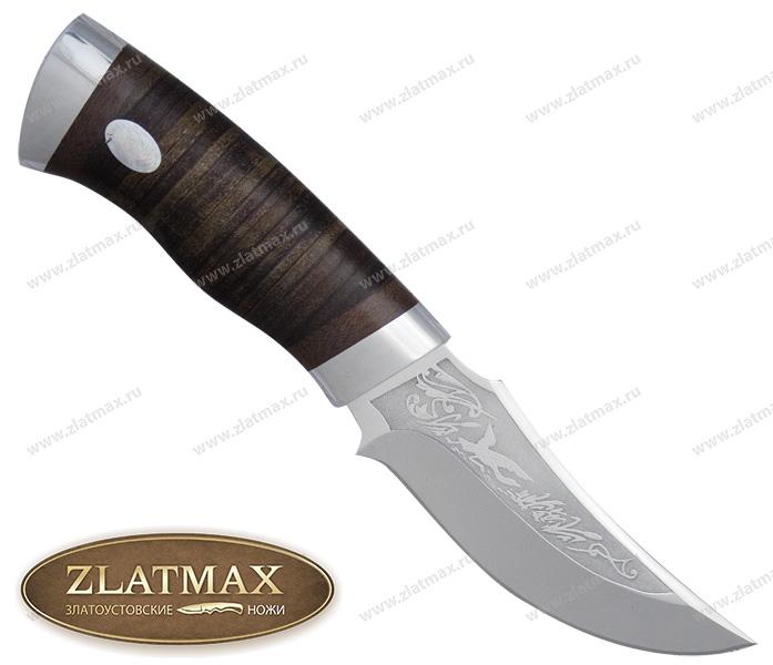 Нож Корсар (ЭИ-107, Наборная кожа, Алюминий) фото 01