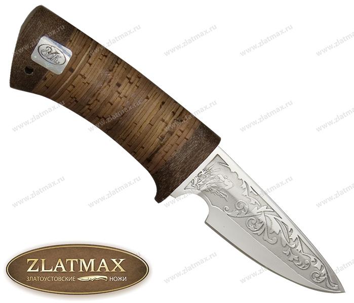 Нож Пескарь (ЭИ-107, Наборная береста, Текстолит) фото 01