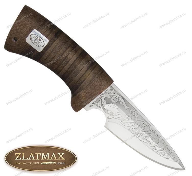 Нож Пескарь (ЭИ-107, Наборная кожа, Текстолит) фото 01
