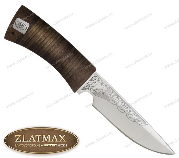 Нож Сапсан (ЭИ-107, Наборная кожа, Текстолит) фото 01