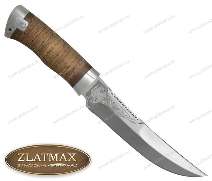 Нож Сокол (ЭИ-107, Наборная береста, Алюминий) фото 01