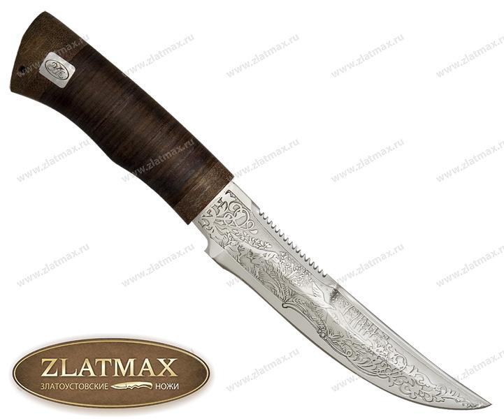 Нож Сокол (ЭИ-107, Наборная кожа, Текстолит) фото 01