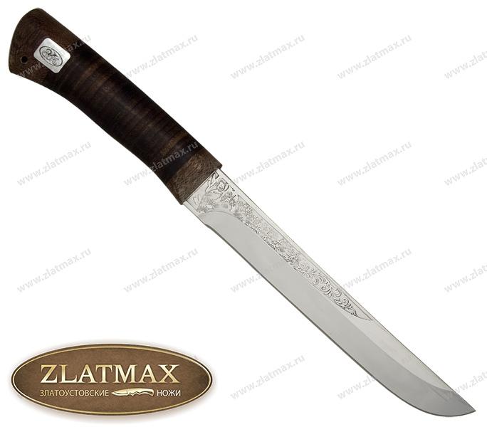 Нож Сом (ЭИ-107, Наборная кожа, Текстолит) фото 01