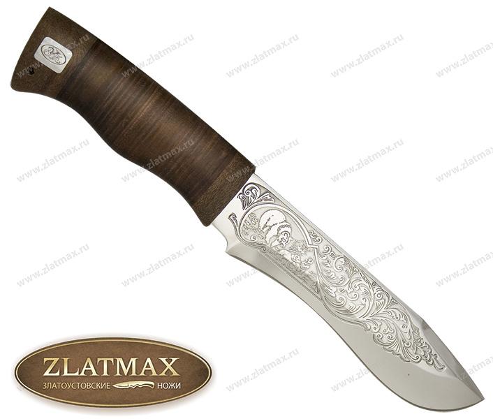 Нож Тургояк (ЭИ-107, Наборная кожа, Текстолит) фото 01