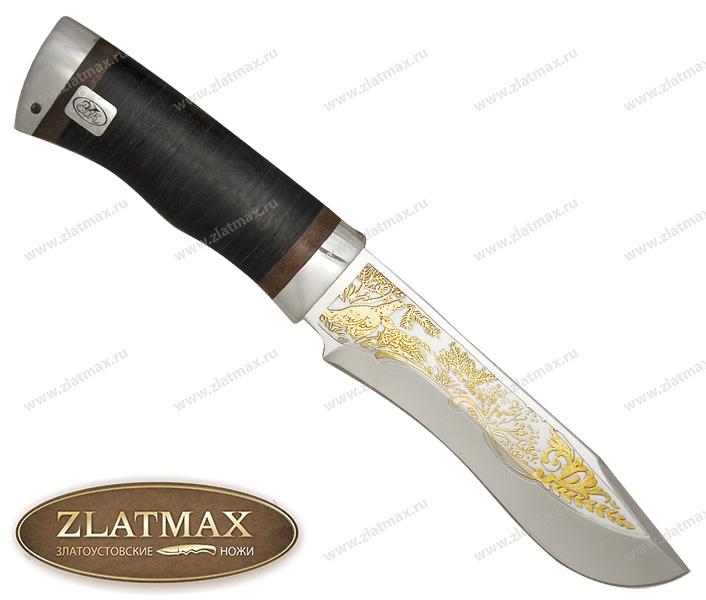 Нож Тургояк (ЭИ-107, Наборная кожа, Алюминий) фото 01