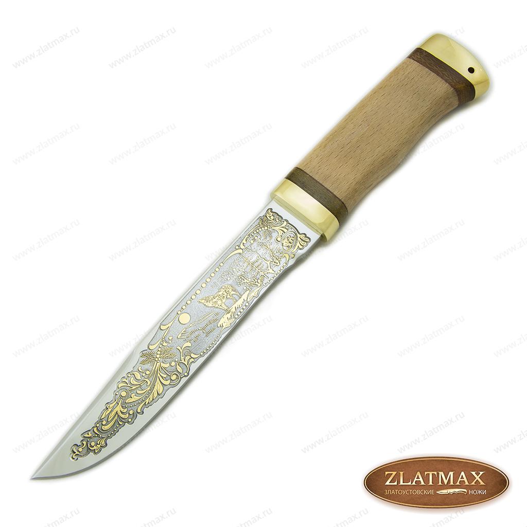 Нож Златоуст (ЭИ-107, Орех, Латунь) фото 01