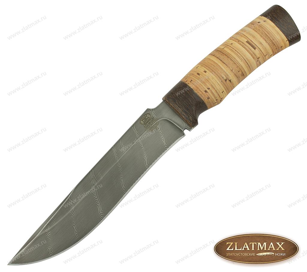 Нож Н2 Турция (У10А-7ХНМ, Наборная береста, Текстолит) фото-01