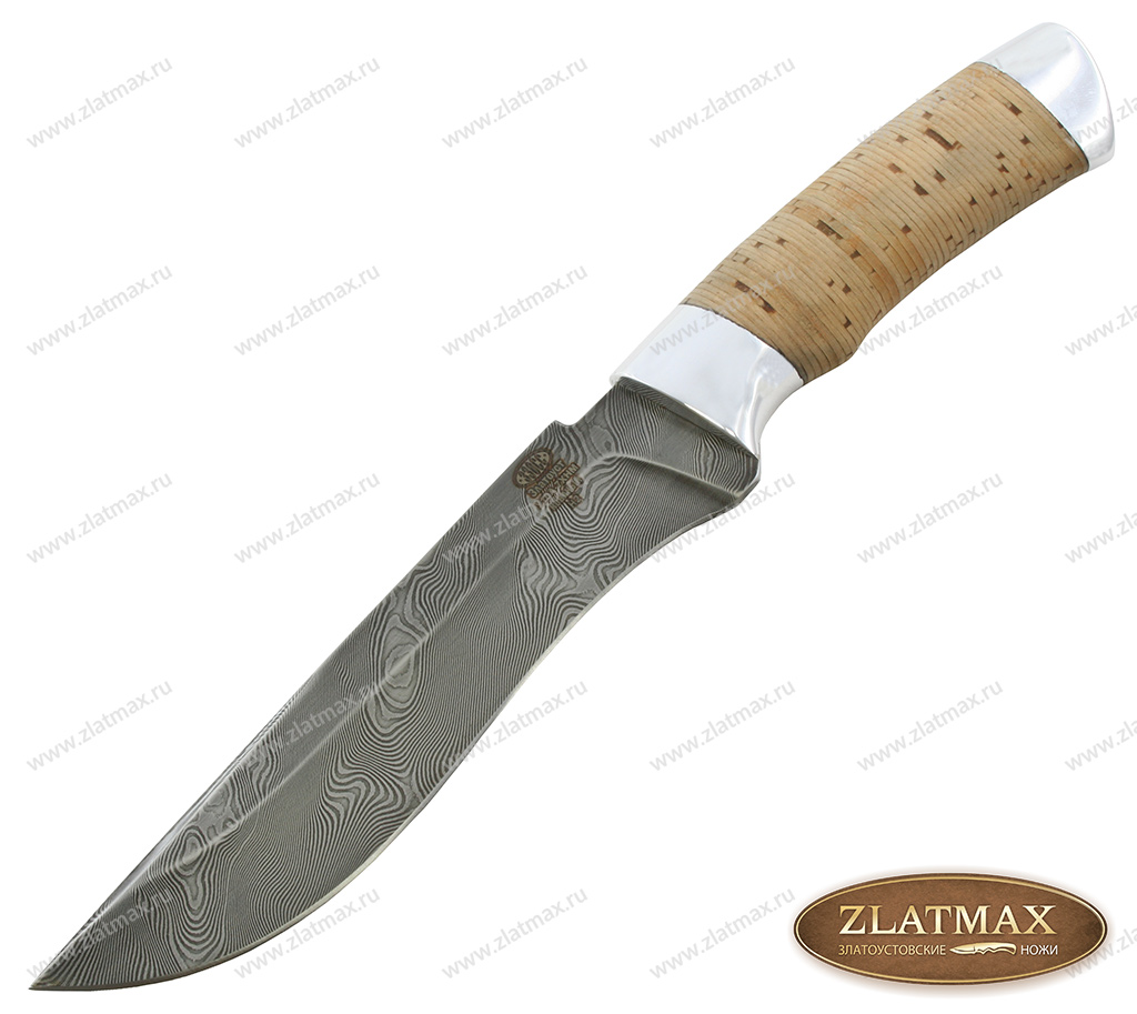 Нож Н2 Турция (У10А-7ХНМ, Наборная береста, Алюминий) фото 01