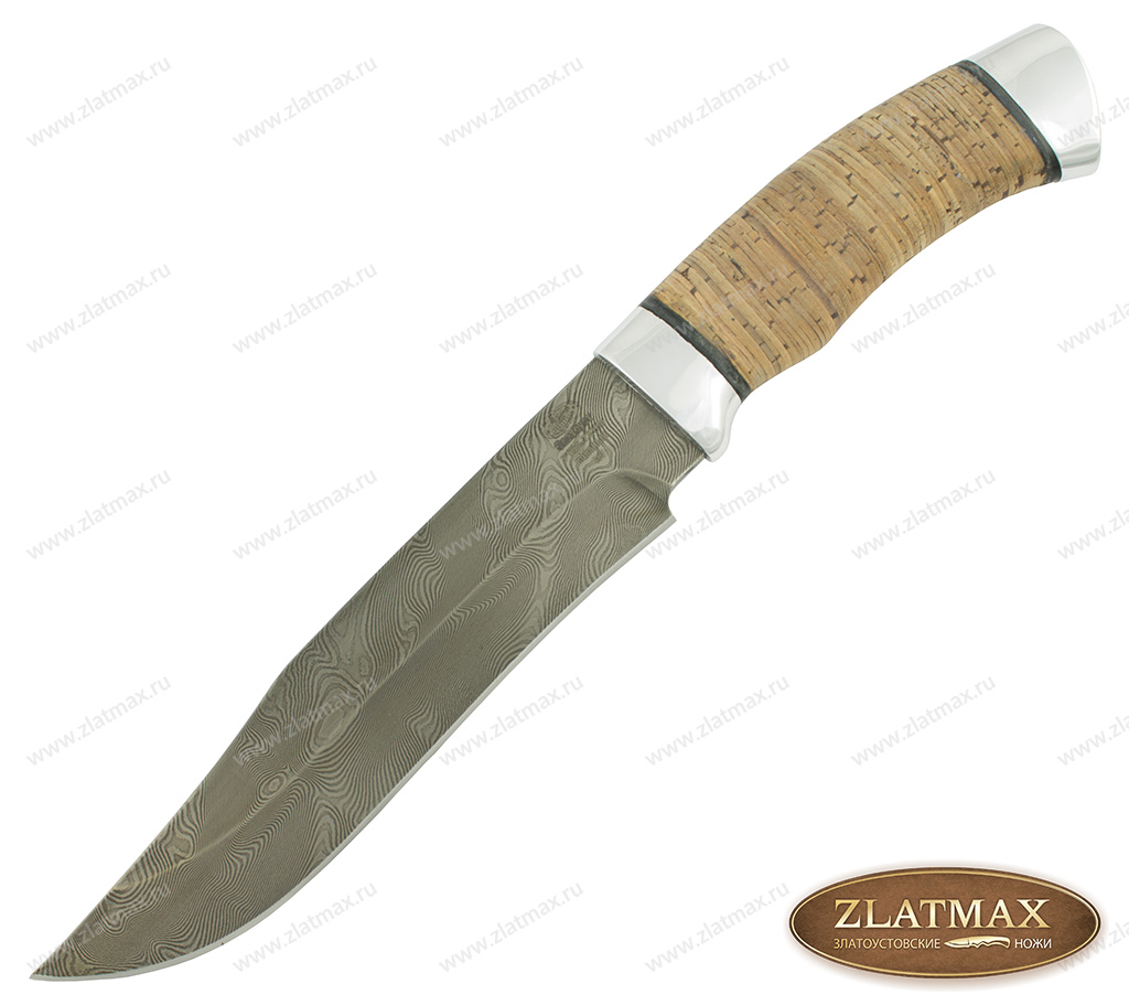 Нож Н7 (У10А-7ХНМ, Наборная береста, Алюминий) фото 01