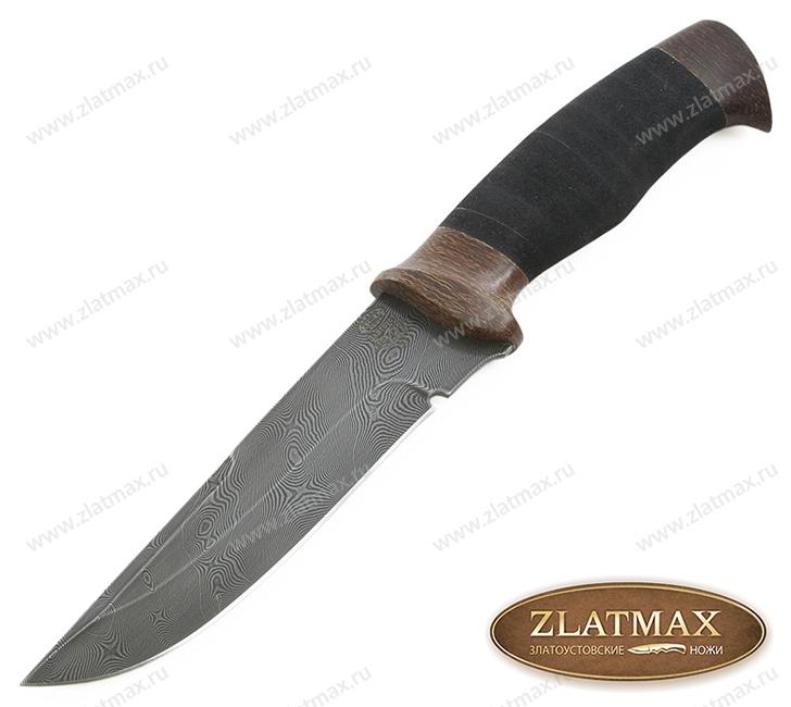 Нож Н8 Спецназ (Дамаск У10А-7ХНМ, Микропористая резина, Текстолит) фото-01
