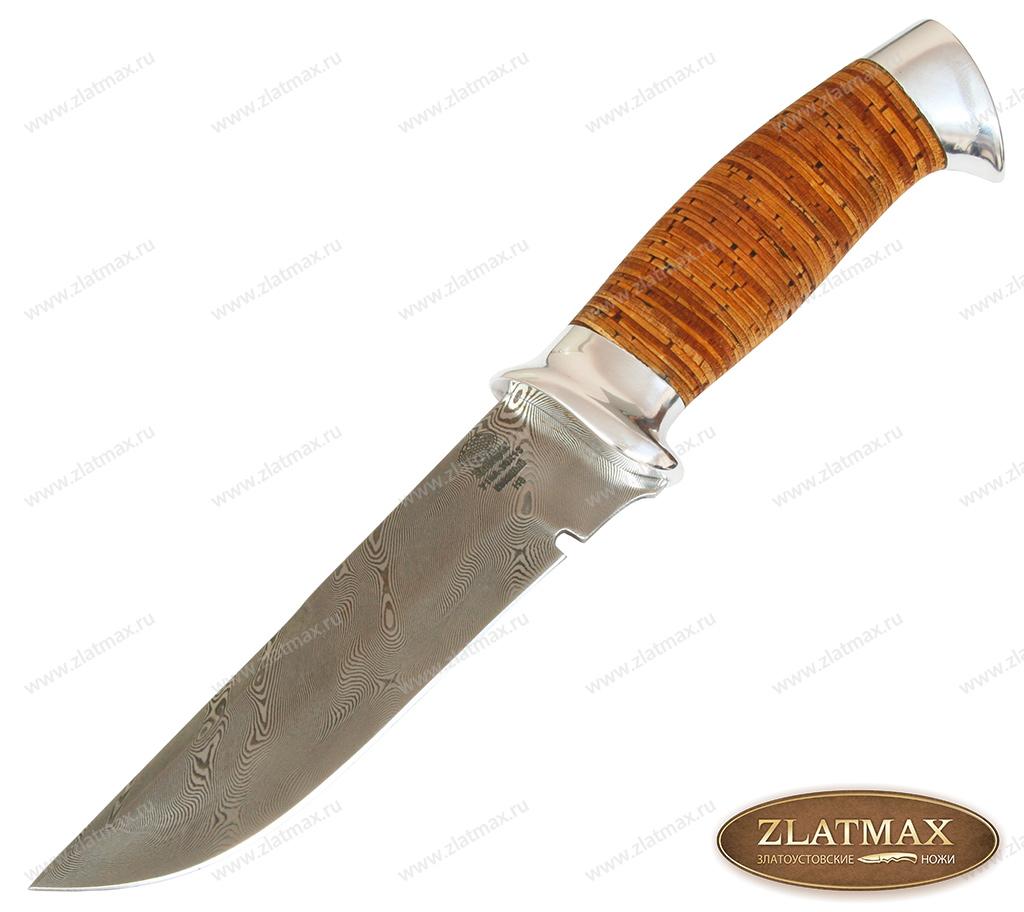 Нож Н8 Спецназ (У10А-30Х13, Наборная береста, Алюминий) фото 01