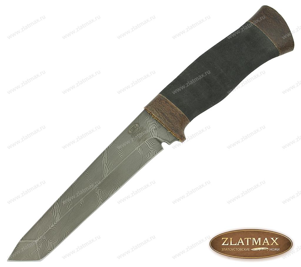Нож Н10 Филадельфия (Дамаск У10А-7ХНМ, Микропористая резина, Текстолит) фото 01