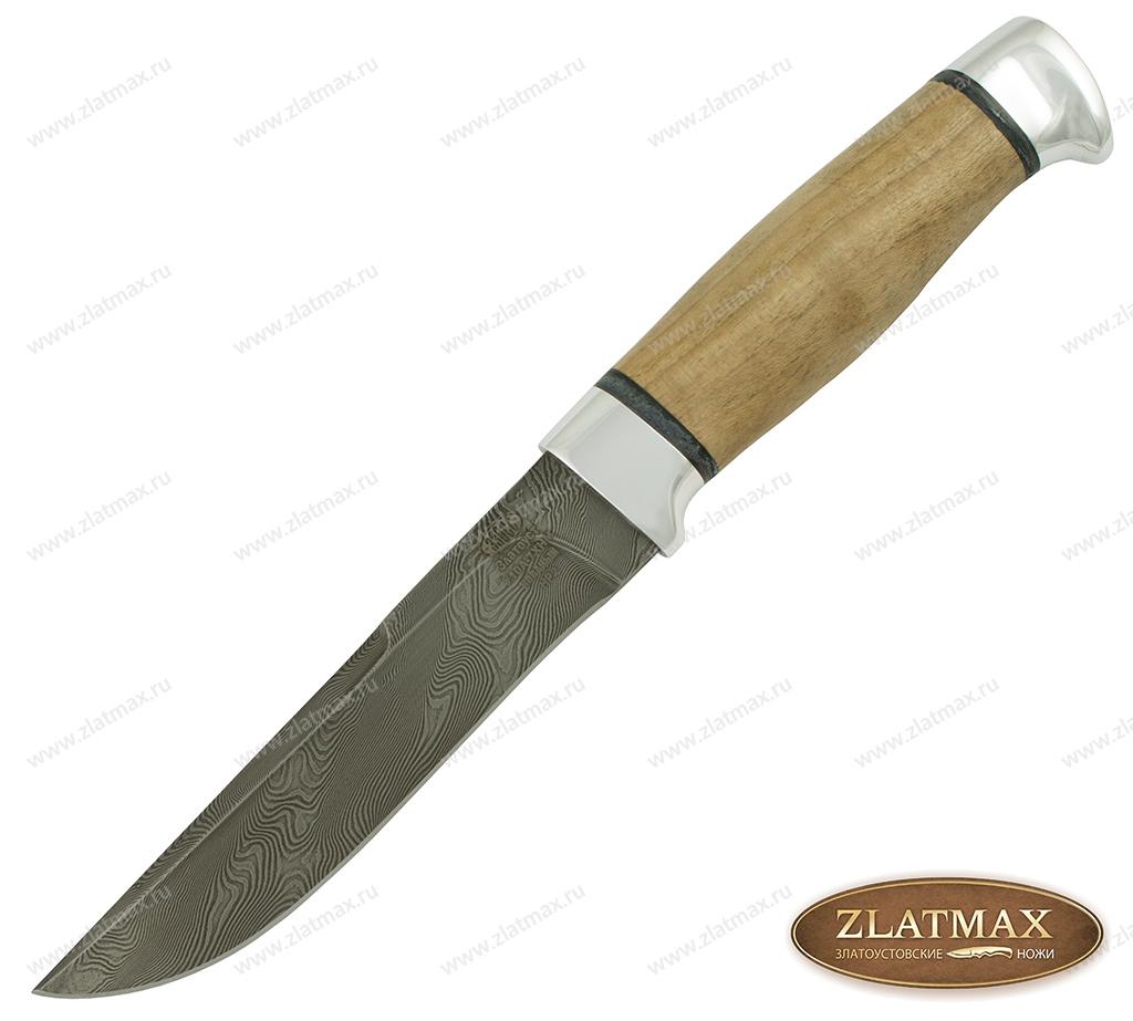 Нож НР2 Турция (Дамаск У10А-7ХНМ, Орех, Алюминий) фото 01