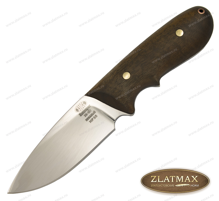 Нож НР 35 (40Х10С2М, Накладки орех) фото-01