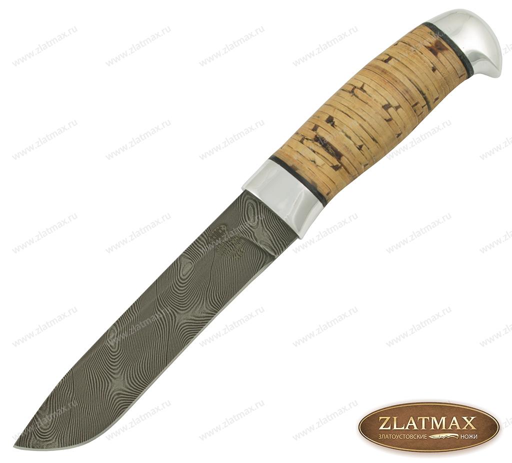 Нож Н61 (У10А-7ХНМ, Наборная береста, Алюминий) фото 01