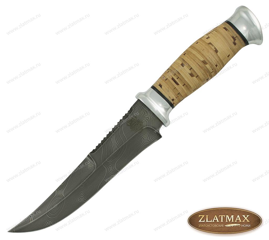 Нож Н69 (У10А-7ХНМ, Наборная береста, Алюминий, Алюминий) фото 01