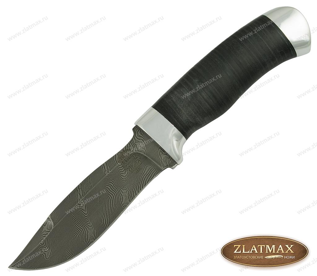 Нож Н59 (Дамаск У10А-7ХНМ, Наборная кожа, Алюминий) фото-01