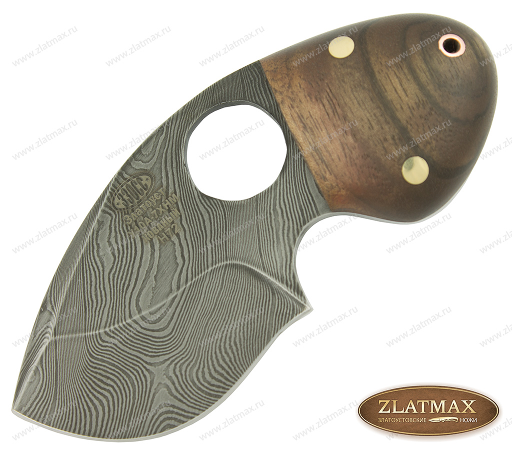 Нож Н72 Бобр (Дамаск У10А-7ХНМ, Накладки орех) фото-01
