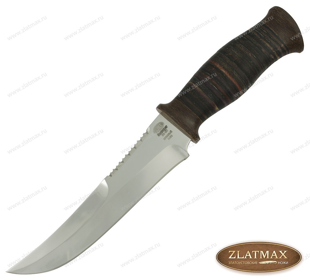 Нож Н69 (40Х10С2М, Наборная кожа, Текстолит) фото-01
