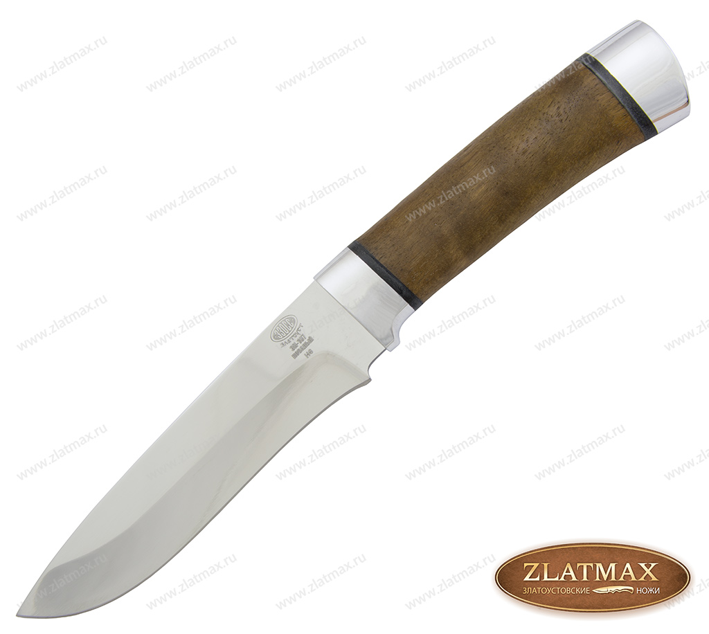 Нож Н6 (40Х10С2М, Орех, Алюминий) фото 01
