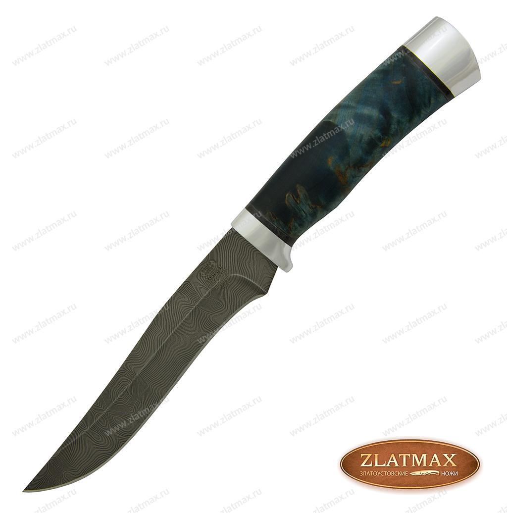 Нож Н16 (У10А-7ХНМ, Стабилизированная карельская береза, Алюминий) фото 01