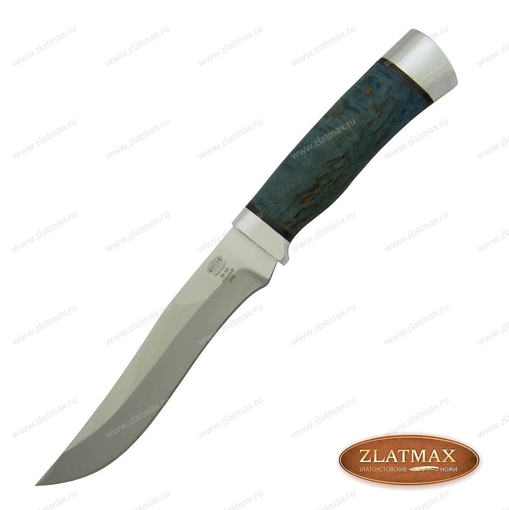 Нож Н16 (40Х10С2М, Стабилизированная карельская береза, Алюминий) фото 01