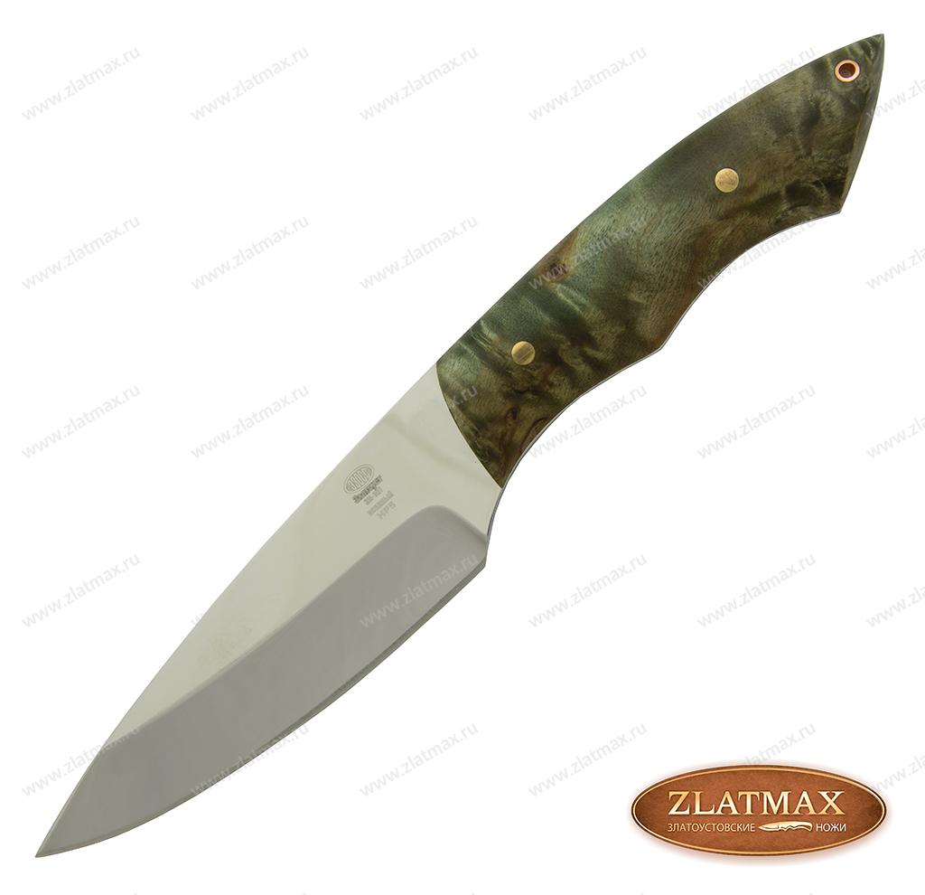 Нож НР5 (40Х10С2М, Накладки стабилизированная карельская береза) фото 01