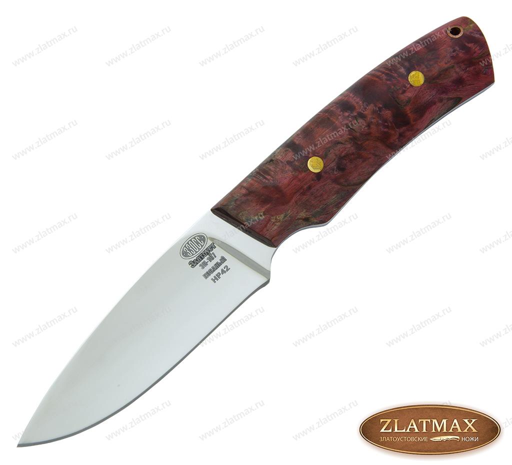 Нож НР 42 (40Х10С2М, Накладки стабилизированная карельская береза) фото 01