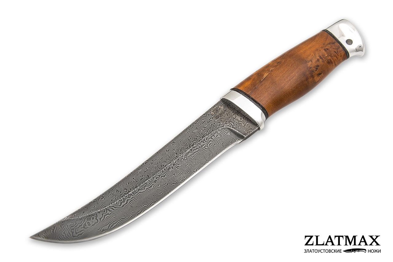 Нож Н5 (У10А-7ХНМ, Стабилизированная карельская береза, Алюминий) фото 01